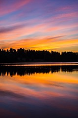 Sunset (Stefano Rugolo) Tags: stefanorugolo pentax k5 pentaxk5 smcpentaxda1855mmf3556alwr ricohimaging sunset lake water sky colors reflection silhouettes cloud landscape nature light serene calm tranquil