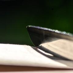'Jagged' (Flip the Script) Tags: macro macromondays telephoto product photography knife utensil food tool reflection knives jagged edge bokeh
