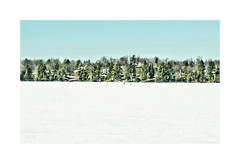 A Walk On The Lake (LupaImages) Tags: lake frozen water winter trees person suzann pines houses nature outdoors outside cold snow