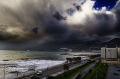 Salerno Storm (WorldPixels) Tags: stormy clouds salerno sea italy