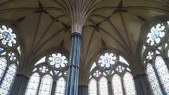 Salisbury Chapter House Vaulting (richwall100 - Thank you for Three Million views) Tags: salisbury cathedral chapterhouse vaulting pillars windows church architecture