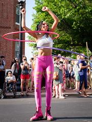 Loops (ep_jhu) Tags: shaw dancing x100f hula washington provia pink loops fuji girl woman funkparade dc fujifilm performer districtofcolumbia unitedstates us
