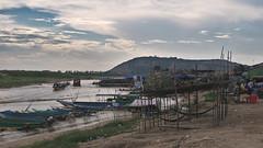 View of Phnom Kraom (hasor) Tags: siem reap cambodia sangkat chong khnies phnomkraom krom hill boats fishing village