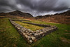 Fortification (Pete Rowbottom, Wigan, UK) Tags: hardknottromanfort romans landscape cumbria eskdale hardknottpass thelakedistrict nikond750 longexposure ruins hills mountains clouds light wideangle romanruins peterowbottom nikon1424f28 nisifilters dramaticsky outdoors wainwright greatbritain england remote uk mediobogdum englishheritage valley pass romanroad perspective