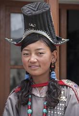 Ladakhi schoolgirl#1 (bag_lady) Tags: ladakh nubravalley india jammuandkashmir schoolgirl ladakhi ladakhischoolgirl traditionaldress buddhist cultural sumur modelschool
