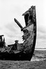 Standing Proud (Richie Rue) Tags: boat shipwreck decay rust abandoned aground proud tall monochrome mono blackandwhite bnw film analogue analog ishootfilm istillshootfilm filmsnotdead staybrokeshootfilm nikonfm ilfordpanf50 rodinal