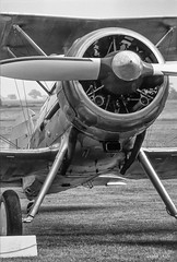 Gloster Gladiator fighter (B&W) (i-lenticularis) Tags: 14bitscandepth 35mmslide agfachromect glostergladiator lrluminancenr50 lrsharp40 nikoncoolscanvedscan nikonscandigitaliceon photographedlate1979or1980 shuttleworthcollection aircraft aviation fighteraircraft history scannedwithnikonsoft403onwin10 bedford england unitedkingdom gb