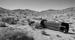Junked Boiler (joeqc) Tags: nevada nv nye county white black bw blancoynegro blackandwhite abandoned forgotten fuji xe3 xf1024f4r boiler mine mining