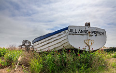 Jill Anne Ipswich (Tony Smith Photo's) Tags: aldeburgh aldeburghbeach beach blue bluesky boat boats britain british coast coastal eastanglia england fishing fishingboat hull isolated ocean pebbles scenic sea seascape seaside shingle shore sky stones suffolk summer sun uk vessel white wood aged aldeburghcoast background beached beautiful boating clinker craft daytime english landscape old paint pebble peeling propeller rural rustic seashore shinglebeach suffolkcoast town traditional transport travel unitedkingdom weathered wooden