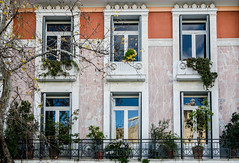 Historic Windows (Rabican7) Tags: hww windows acropolis parthenon reflection urban neoclassical greek architecture structure house building downtown greece touristic colorful color historic 6 balcony view happywindowwednesday windowwednesday