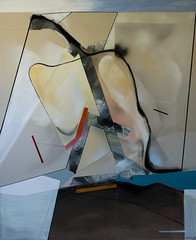 """Nudist beach"" (Mateusz Rybka Art) Tags: painting abstract abstractart nudist beach silhouette contemporary contemporaryart modern modernart polishart polishartist rybka gdansk mixed media canvas acrylic spray charcoal"