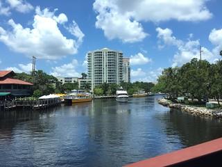 Crossing The Florida East Coast Railway  Drawbridge On Brightline