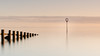 Portobello Point #1 (Euan Ross (circa35mm)) Tags: beach d800 east eastcoast edinburgh firthofforth forth gitzo groynes landscape leith longexposure lothian markers minimalism mininmal nikon nikond800 northsea portobello portobellobeach sand scotland seascape spring still sun sunrise tide uk water