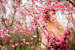 "TEATRONATURA ""Pink blossom explosion"" (valeriafoglia) Tags: fantasy fairy flowers face ethereal stylist spirit model makeup magic pink bloom creature creative composition colors capture beautiful beauty photo photography portrait pretty nature outfit"