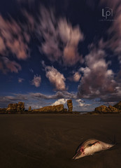 The End (Jose M. Lois) Tags: agua water noche playa delfin lois nisi nikon rocas nube