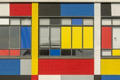 Mondriaan Facade (Jan van der Wolf) Tags: map183163v facade gevel gebouw architecture denhaag mondriaan lines lijnen geometric geometry geometrisch geometrie