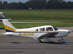 G-GUAR Piper Cherokee Warrior 28 Private (Aircaft @ Gloucestershire Airport By James) Tags: gloucestershire airport gguar piper cherokee warrior 28 private egbj james lloyds