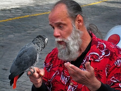 Seattle: bird man (Henk Binnendijk) Tags: street candid pikeplacemarket farmersmarket publicmarketcenter seattle washington northwest people animals