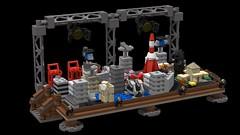 LEGO Godzilla (behind the scenes) set (VOTE NOW) (KaijuWorld) Tags: lego moc set godzilla 1954 toho movie ideas custom minifigure