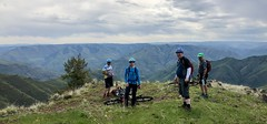 2018  Waha Waterfall and Vista Ride (Doug Goodenough) Tags: bicycle bike cycle pedals spokes waha craig mountains idaho waterfall deer creek group forest view dirt gravel grinding scott jen drg531 drg53118 drg53118p spring 2018 may 18