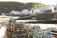 320A6922 Cod and Lobster.....Pots (Leeds Lad at heart) Tags: cottages pub inn tavern uk yorkshire staithes harbour coast landscape pots lobsterpots fishing cliffs hill