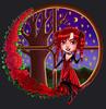 Roses (Zephrine Art) Tags: digital painting roses illustration window wood tree starry sky night