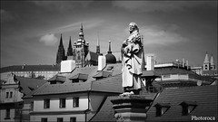 Praha Castle Views. (Photoroca) Tags: praga estatua sculpture puente vistas vista views praha