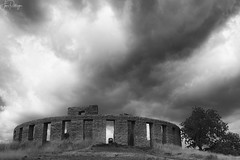 Storm Clouds At StonehengeB and W(1 of 1) (capemountain) Tags: palousetrip clouds stonehenge blackadnwhite