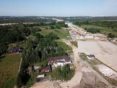 Budowa S2 na zachód znad Ogórkowej (20.05.2018) (Polek) Tags: poland warszawa mazowieckie polska warsaw masovian zdrona aerial wawer