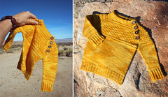 mcdreamytruitje (L♥valizious) Tags: knit knitted knitwear yellow sweater baby clothes diy yarn knitpicks variegated handdyed