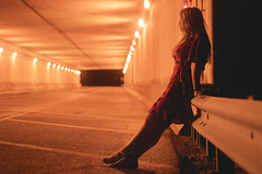Waiting for a ride (joshhansenmillenium) Tags: long exposure longexposure nikon nikond5500 d5500 nifty50 50mm modeling photography freelance sunset sunsets clouds kentucky tunnels night time moody lightpainting painting