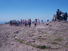 Form an orderly queue for your summit photo..... (David Howarth_08) Tags: mountain summit landscape brecon beacons sky