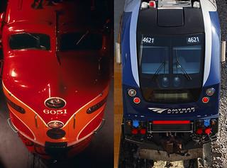 American passenger locomotive—1954 and 2017
