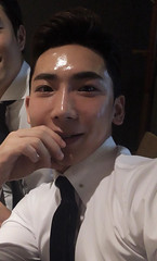 56 (Glistening Man) Tags: shiny oily man guy asian shining glassskin greasy oiled face skin forehead nose