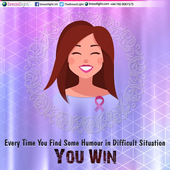 Every-Time-You-Find-Some-Humour-in-Difficult-Situation (BreastLight) Tags: breast women awareness hope faith strength fight cancer health cure pink love survivour curage breastlight