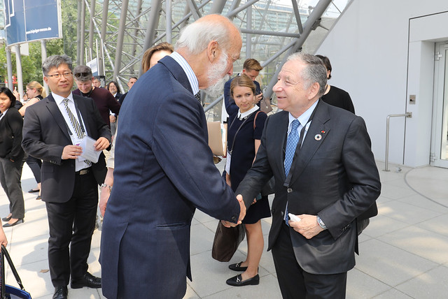 HRH Prince Michael of Kent greeting Jean Todt