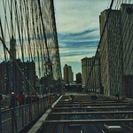New York City - New York - Manhattan - Brooklyn Bridge - View from Walkway thumbnail