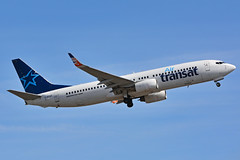 C-GTQY (Air Transat). (Steelhead 2010) Tags: airtransat boeing b737 b737800 yyz creg cgtqy