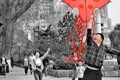 Harbin, China (russsavage@hotmail.co.uk) Tags: china harbin park kites wind fun play colour red 哈尔滨 中国 young memory nostalgia happy childish