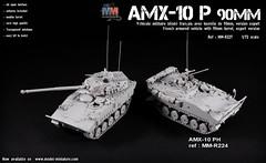 AMX-10 P PAC90 90mm (Model-Miniature / Military-Photo-Report) Tags: amx10 p 90mm turret tourelle french military vehicle véhicule militaire français en miniature scale échelle 172 pac90 pac 90 aifv