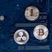 Virtual symbols of the coin Bitcoin, Litecoin and Ripple