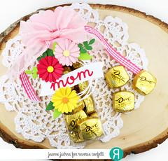 Sweets For Mom (akeptlife) Tags: reverseconfetti die treattube treats treattubetopper flowersformom flower leafy papercrafting swirlies