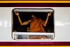 Bangkok, Thailand (sameerwalzade) Tags: fujifilmx100t fujifilm fujifilmxseries fujifilmstreetphotography monk thailand bangkok train station trainstation streetphotography colour colorstreetphotography colourstreetphotography asia southeastasia shadow illusion