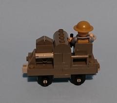 WW1 Narrow gauge 20hp Simplex engine. (KPFR5Q2XZXQW774THJOIGWTBCI) Tags: lego army british ww1 westernfront tommy narrowgauge railway 20hp simplex