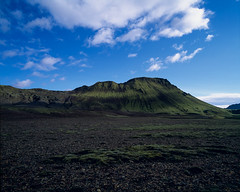 Green hill (JaZ99wro) Tags: exif4film iceland e6 velvia50 tetenal3bathkit islandia highlands f0347 opticfilm120 pentax67ii analog film