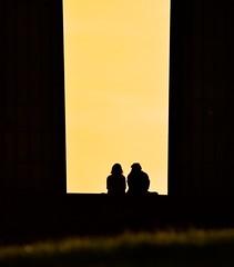 Couple (Edinburgh Photography) Tags: outdoors couple people sitting silhouette sepia monochrome documentary photojournalism calton hill nikon d7000
