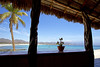 paradise is a state of mind (1crzqbn) Tags: sliderssunday beach bahíadelosmuertos sea blue sunlight reflections shadows seascape light nature palapa bay