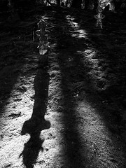 ominous smiler (scratchinglight) Tags: ominous smiler haniwa grounding grounded composition monochrome bw bnw scratchinglight scratching light photography self critique selfcritique black white blackandwhite iphone 6s iphoneography