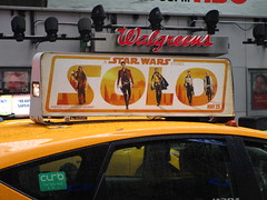 Solo A Star Wars Movie Rooftop Taxi Cab Fin Ad 0316 (Brechtbug) Tags: solo a star wars movie alden ehrenreich han donald glover lando calrissian joonas suotamo chewbacca woody harrelson tobias beckett april 2018 new york city portrait portraits eight story space opera film science fiction scifi robot metal man adventure galactic prototype design metropolis standee nyc billboard poster billboards posters taxi cab fin ad ads advertisement advertisements 04272018