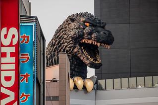 Hotel Gracery Shinjuku (The Godzilla Hotel) / TOHO Cinemas Shinjuku Building Godzilla Head